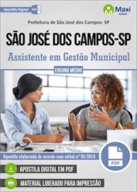 Assistente em Gestão Municipal - Prefeitura de São José dos Campos - SP
