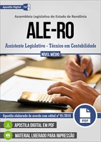 Assistente Legislativo - Técnico em Contabilidade - ALE-RO