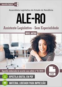 Assistente Legislativo - Sem Especialidade - ALE-RO