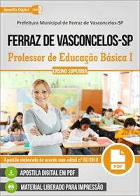 Professor PEB I - Prefeitura de Ferraz de Vasconcelos - SP