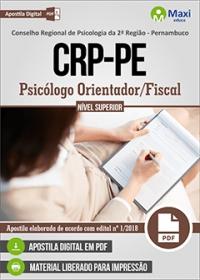 Psicólogo Orientador/Fiscal - CRP-PE