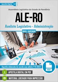 Analista Legislativo - Administração - ALE-RO