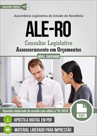 Consultor Legislativo - Assessoramento em Orçamentos - ALE-RO