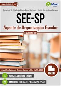 Agente de Organização Escolar - SEE-SP - São José dos Campos - SP