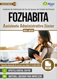 Assistente Administrativo Júnior - FOZHABITA