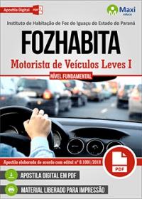 Motorista de Veículos Leves I - FOZHABITA