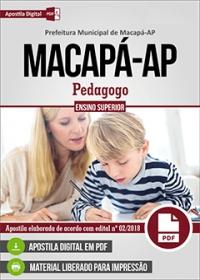 Pedagogo - Prefeitura de Macapá - AP