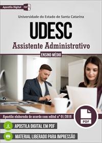 Assistente Administrativo - UDESC