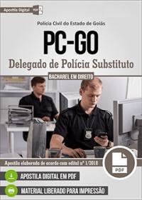 Delegado de Polícia Substituto - Polícia Civil - GO