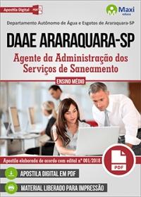 Agente da Administração - DAAE Araraquara - SP