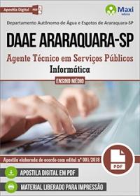 Agente Técnico - Informática - DAAE Araraquara - SP