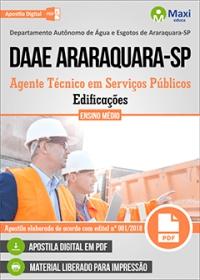 Agente Técnico - Edificações - DAAE Araraquara - SP