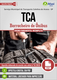 Borracheiro de Ônibus - TCA - Araras - SP