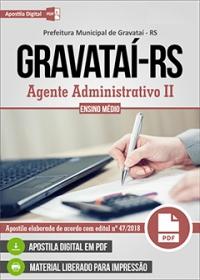 Agente Administrativo II - Prefeitura de Gravataí - RS