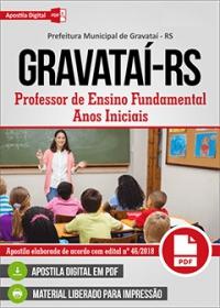 Professor de Ensino Fundamental - Anos Iniciais - Prefeitura de Gravataí - RS