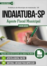 Agente Fiscal - Prefeitura de Indaiatuba - SP