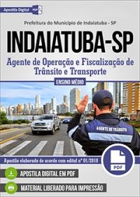 Agente de Operação e Fiscalização - Prefeitura de Indaiatuba - SP