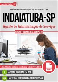 Agente de Administração de Serviços - Prefeitura de Indaiatuba - SP