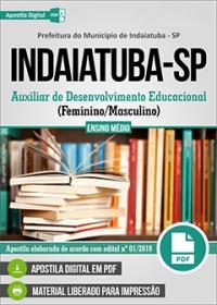 Auxiliar de Desenvolvimento Educacional - Prefeitura de Indaiatuba - SP