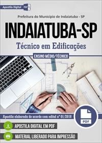 Técnico em Edificações - Prefeitura de Indaiatuba - SP