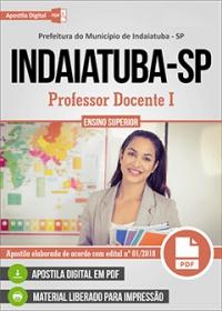 Professor Docente I - Prefeitura de Indaiatuba - SP