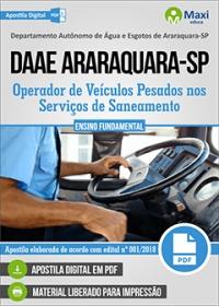 Operador de Veículos Pesados - DAAE Araraquara - SP
