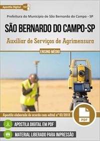 Auxiliar de Serviços de Agrimensura - Pref. de São Bernardo do Campo - SP