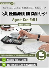 Agente Contábil I - Pref. de São Bernardo do Campo - SP