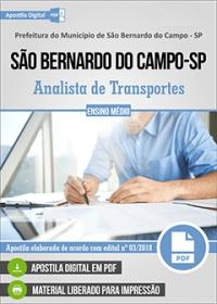 Analista de Transportes - Pref. de São Bernardo do Campo - SP