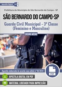 Guarda Civil Municipal - 3ª Classe - Pref. de São Bernardo do Campo - SP