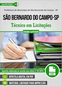 Técnico em Licitações - Pref. de São Bernardo do Campo - SP