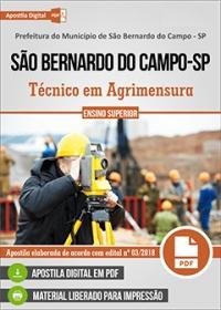 Técnico em Agrimensura - Pref. de São Bernardo do Campo - SP
