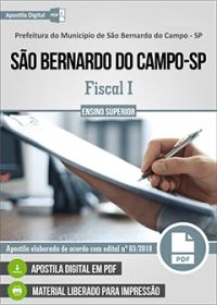 Fiscal I - Pref. de São Bernardo do Campo - SP