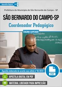Coordenador Pedagógico - Pref. de São Bernardo do Campo - SP