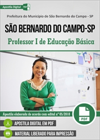 Professor I de Educação Básica - Pref. de São Bernardo do Campo - SP