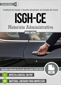 Motorista Administrativo - ISGH-CE