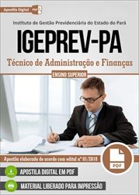 Técnico de Administração e Finanças - IGEPREV-PA