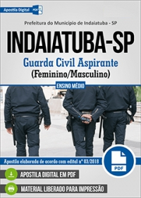 Guarda Civil Aspirante - Prefeitura de Indaiatuba - SP