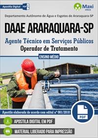 Operador de Tratamento - DAAE Araraquara-SP