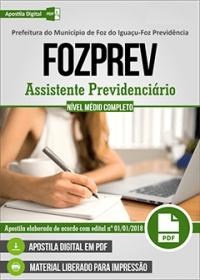 Assistente Previdenciário - FOZPREV