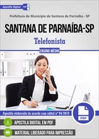 Telefonista - Prefeitura de Santana de Parnaíba - SP