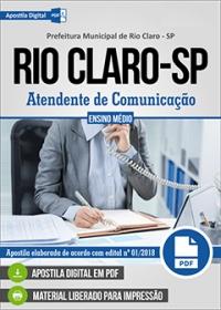 Atendente de Comunicação - Prefeitura de Rio Claro - SP