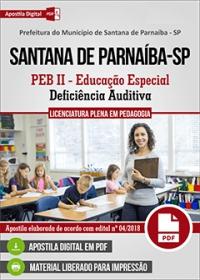 PEB II - Educação Especial - Prefeitura de Santana de Parnaíba - SP