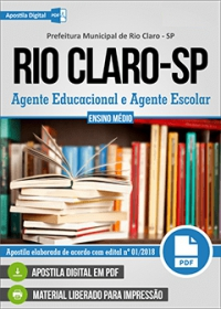 Agente Educacional e Agente Escolar - Prefeitura de Rio Claro - SP