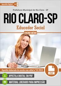 Educador Social - Prefeitura de Rio Claro - SP