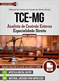 Analista de Controle Externo - Direito - TCE-MG