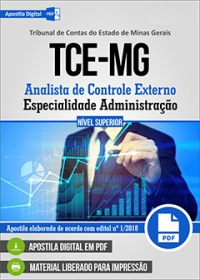 Analista de Controle Externo - Administração - TCE-MG