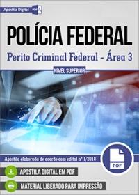 Perito Criminal Federal - Área 3 - Polícia Federal