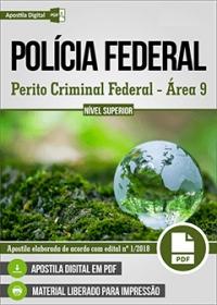 Perito Criminal Federal - Área 9 - Polícia Federal