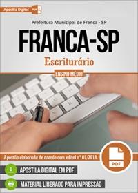 Escriturário - PSF - Prefeitura de Franca - SP